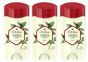 Old Spice Deodorant, Tundra With Mint, 2.6 Ounce (Pack of 3) LIMITED EDITION