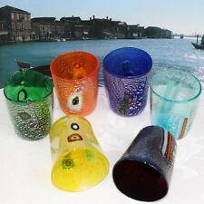 """VETRO DI MURANO set di 6 bicchieri """"goti de Fornase"""". MURANO GLASS"""