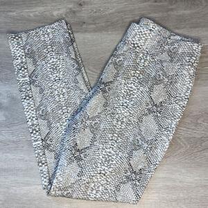 Women LENA GABRIELLE LG Snake Skin Print Pull On Pants Size 10