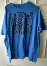 Sean John T Shirt xxl 2xl blue black graphic time to evolve short sleeve crew