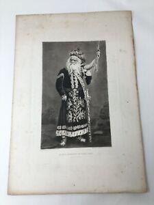 Edwin Forrest as King Lear Act IV 1887 Gravure Gebbie & Husson Co Ltd Print