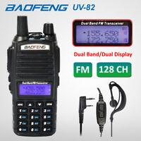 BAOFENG UV-82 UHF VHF 137-174/400-520MHz Walkie Talkie Two Way Radio + Earpiece