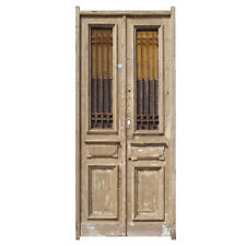 Antique Pair of 40� French Colonial Doors with Iron Inserts, Ned1215