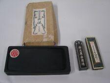 VTG NOS JAPANESE INKSTONE GRINDER CALLIGRAPHY & STICK SHODO SHUJI TOOL