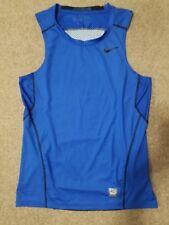 Nike Pro Combat Hypercool Fitted Dri-Fit Men's Blue Sleeveless Tank Top Size M