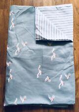 Emily Bond Gulls Stripe Blue 1 Housewife Reversible Pillowcase 100% Cotton New
