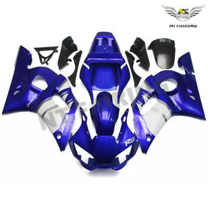 UK Fairing Kit Blue White Injection ABS Kit Fit for YAMAHA 1998-2002 YZF R6 n058