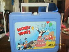 1989 Looney Tunes With Roadrunner Lunch Box- Thermos,With Paper Work