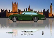 Print on Canvas Aston Martin DB5 1963 - 1965 Green / Westminster Version 80 x 60