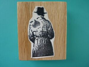 Humphrey Bogart as Rick Blaine Casablanca Rear View Trench Coat/Hat Rubber Stamp