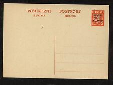 Finland postal card overprinted unused Ps0415