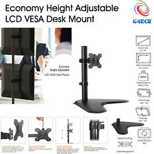 "Single Arm Desk Mount Computer Monitor Bracket Stand 13-32"" Screen Freestanding"