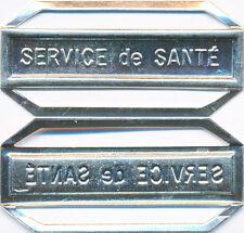 Agrafe pour Décoration, SERVICE de SANTE, métal chromé, Poinçon M.D.P.(7550)