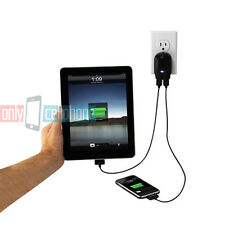 Scosche Premium Dual USB Home Charger Data Cable for Apple iPads iPhone 4s 4 3GS