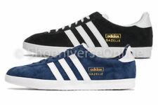 Men's Adidas Originals Gazelle OG Shoes Trainers Suede Black Navy Q21600 G13265