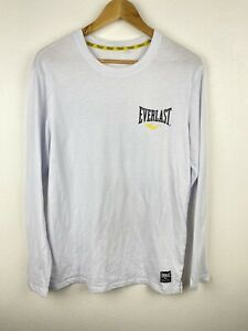 Everlast Mens T Shirt Size S Crew Neck Long Sleeve White Graphics Print Adult