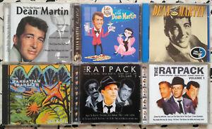 Lot 6 CD's • Dean Martin - The Ratpack - Manhattan transfer...