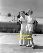 CAROLE LOMBARD 8x10 Lab Photo 1930s SEXY Tennis Player Athletic Short Shorts