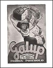 PUBBLICITA' 1951 PANETTONE GALUP FERRUA PINEROLO DOLCE CAKE  PASTICCERIA BAR
