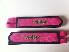BICYCLE PINK TOE CLIP DOUBLE STRAPS WELLGO BMX MTB ROAD FIXIE TRACK CYCLING NEW