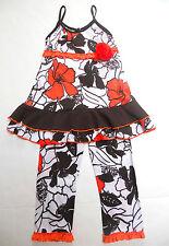 New Tralala Swing Pant Set Size 4~Girls~Ruffled Trim~Boutique Brand