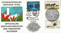UNITED NATIONS & AUSTRIA 1985 40th ANN OF THE UN FIRST DAY COVER  VIENNA SHS