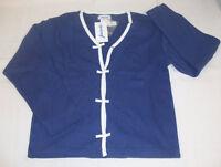JACADI Girl's Tapio8 Blue Bow Cardigan Size 10 Years NEW $119
