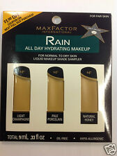 Max Factor Rain All Day Hydrating Liquid Makeup Shade Sampler FOR FAIR SKIN NEW.