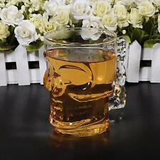 Crystal Skull Head Vodka Wine Shot Glass Drinking Cup Home Bar 500ML / 18oz Z タ