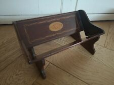 Gorgeous Antique Miniature Wooden Inlaid Shell Design Desk Top Book Trough