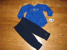 NEW St. Louis Blues NHL Baby Girls Fleece Outfit Pants Shirt Size 24M 24 Mo