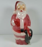"Vintage 1968 Empire Christmas Plastic Blow Mold Table Top Santa 12"" New Unopened"