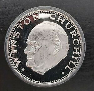 PARAGUAY - RARE 150 GUARANIES SILVER PROOF COIN 1974 YEAR KM#116 CHURCHILL