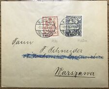 POLAND - 1915 WARSAW LOCAL POST - +i.2a & Mi.6Iaa on cover