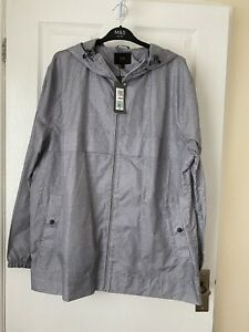 M&S Grey Pack-a-Mac Lightweight Raincoat XL New