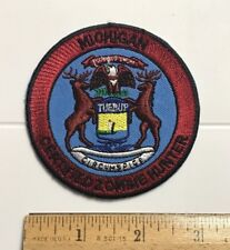 Michigan Certified Zombie Hunter Novelty Souvenir Round Patch Badge