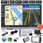 GPS Navigation 7'' 2DIN Touch Car Stereo Radio MP3 Player Bluetooth USB/AUX+CAM