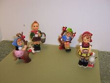 4 Vintage Hong Kong Faux Hummel Children Ornaments