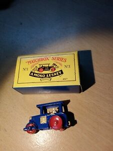 Matchbox Regular MB1 Road Roller RE-ISSUE blue boxed