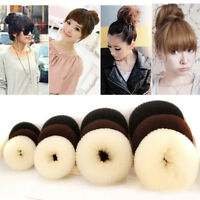4 Sizes Hair Styling Donut Bun Maker Ring Style Bun Scrunchy Sock Poof Bump Tool