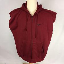 Minty Vintage 90's Nike USA Maroon Sweatshirt Jacket Hoodie Sleeveless Boxing XL