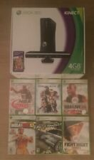 Microsoft Xbox 360 Kinect Bundle - 4GB - Black Console (With 7 Games)