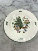 Nikko 1995 Jingle Bells Happy Holidays Plate Holiday Spirit Japan Collectibles