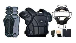 15 PCS LOT Diamond Baseball Umpire Protective Equipment with Accessories /& Bag