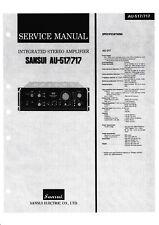 Service Manual-Instructions pour SANSUI au-517, au-717