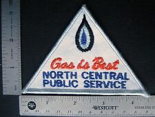 GAS IS BEST~NORTH CENTRAL PUBLIC SERVICE EMBROIDERED SEW ON  PATCH 4 1/2 x 4