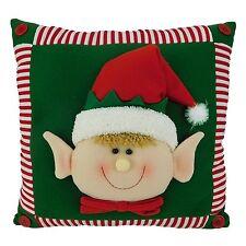 15 Inch Elf Face Christmas Pillow - Christmas Cushion (DS37)