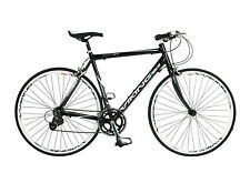VIKING TREVISO MENS ROAD 700C WHEEL FLAT BAR BIKE 59CM ALLOY 16 SPEED BLACK