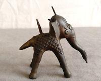 Vintage Brass Elephant Fgurine Incense Cone Burner Peak Holder