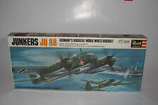 REVELL MODELS JUNKERS JU 88 NAZI GERMANY WWII AIRPLANE, 1:72, SEALED NEW IN BOX